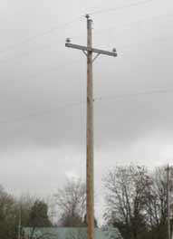 Pole without transformer